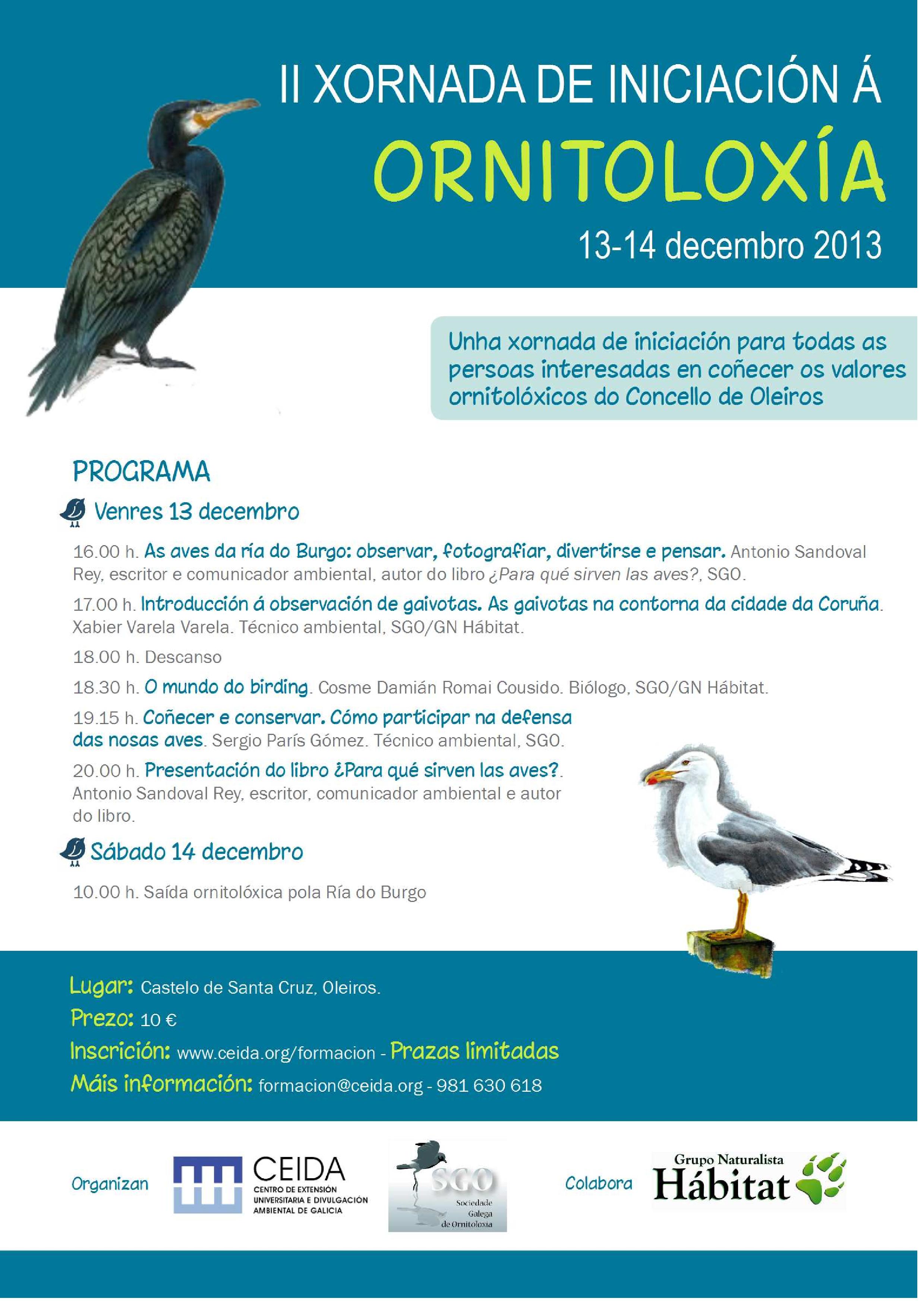 II Xornada de Iniciación á Ornitoloxía