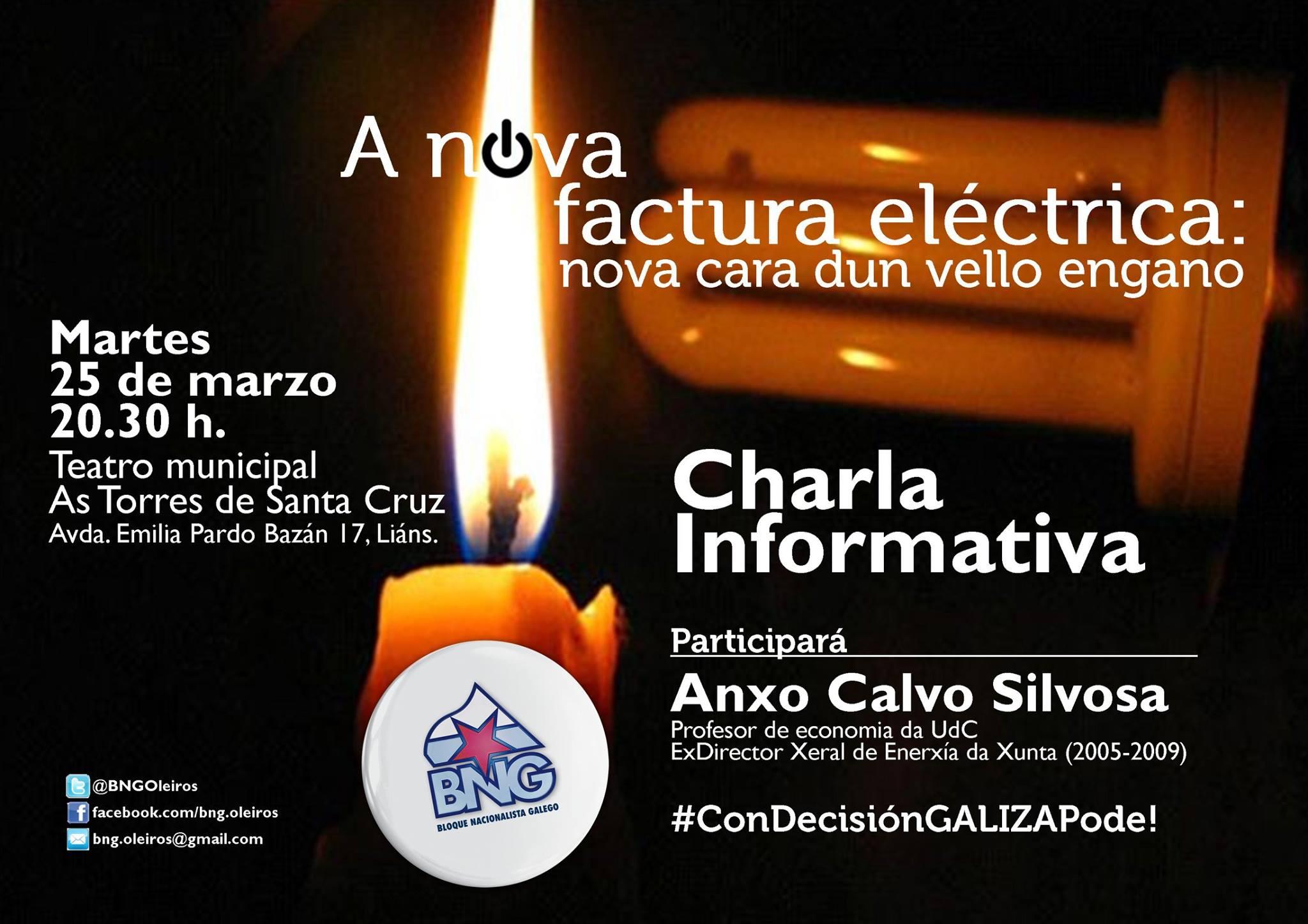 """Charla informativa: """"A Nova Factura da Luz"""""""