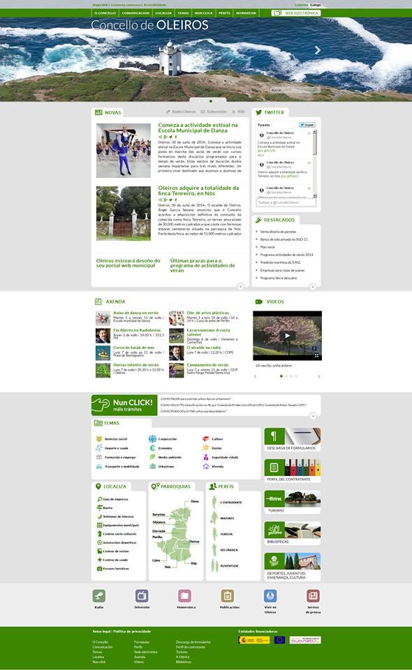 oleiros.org: una delicia de navegabilidad a la espera de nuevos contenidos