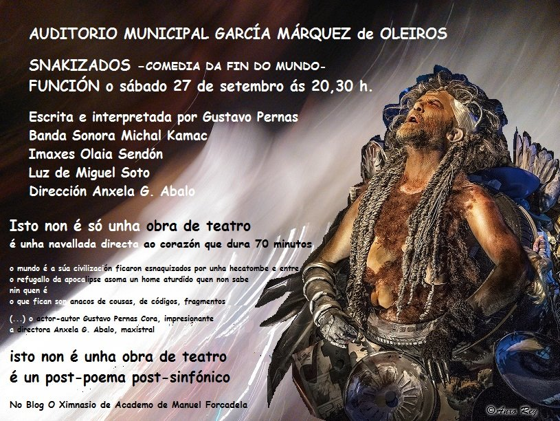 """""""Snakizados""""; de Gustavo Pernas Cora no Auditorio de Mera"""