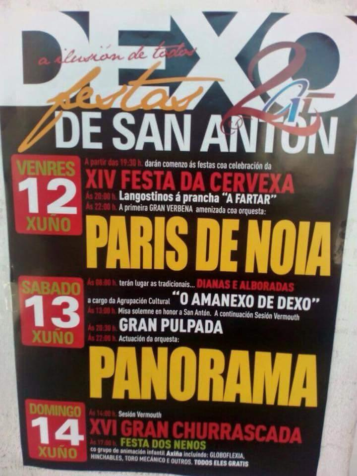 Festas de San Antón en Dexo 2015