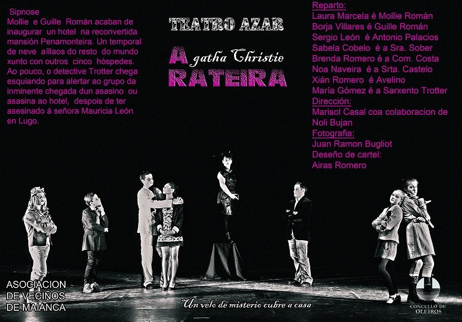 """TEATRO: """"A Rateira""""; de Agatha Christie por Teatro Azar"""