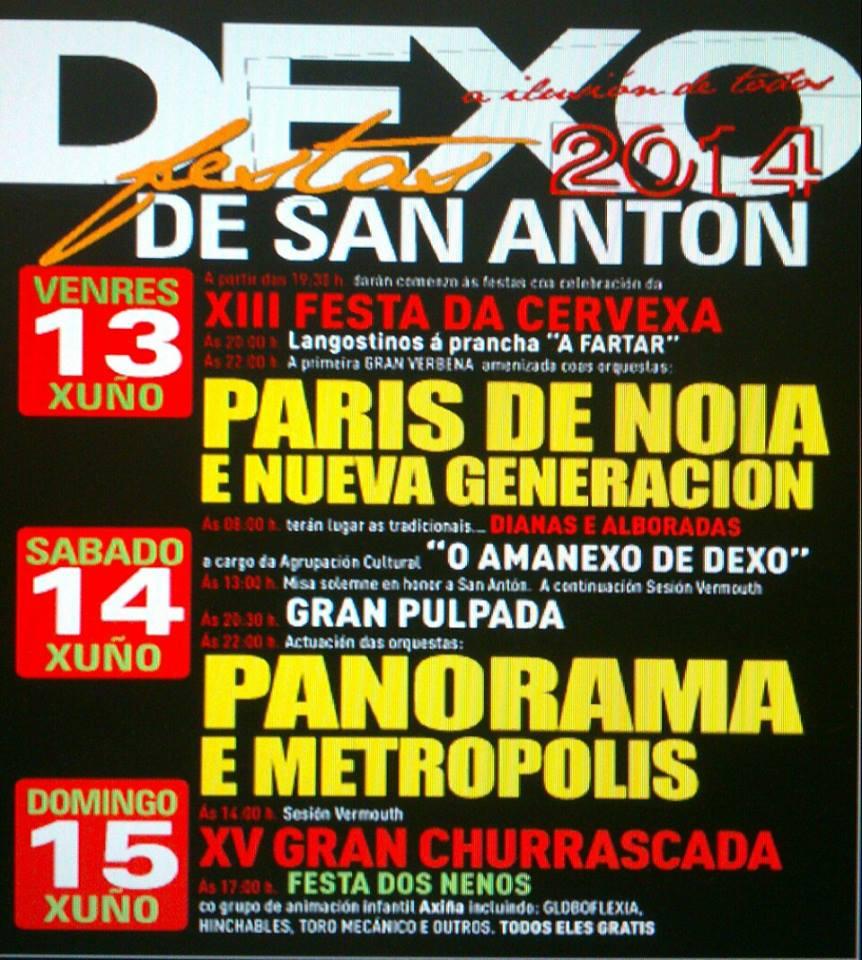 Festas en Dexo 2014