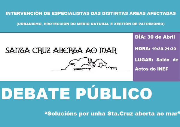 """DEBATE ABERTO: """"Santa Cruz aberta ao mar"""""""